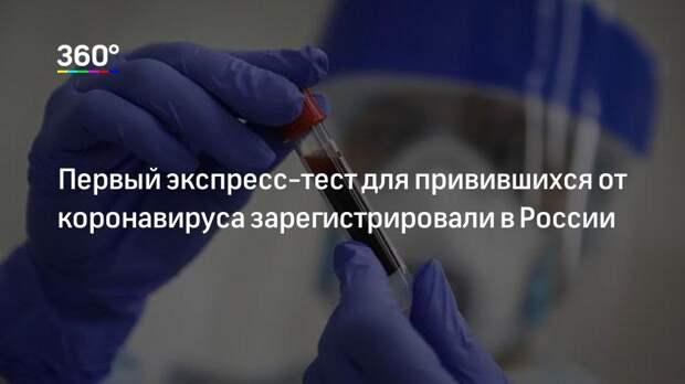 Первый экспресс-тест для привившихся от коронавируса зарегистрировали в России