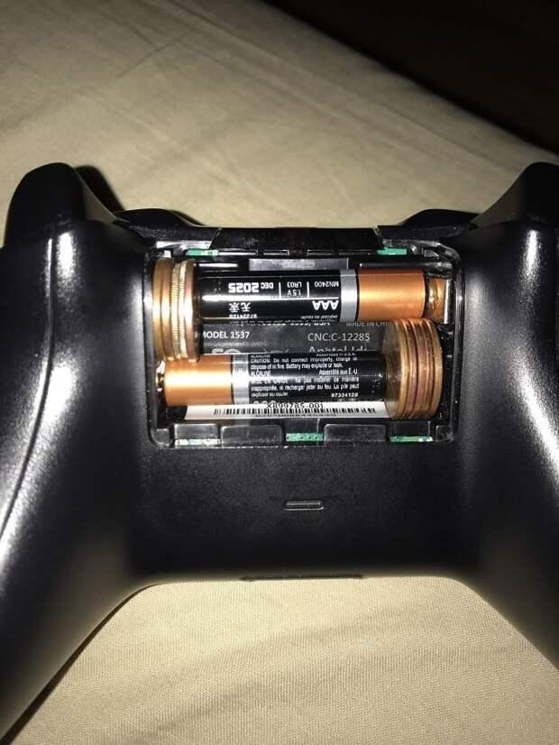 44. Если батареек нужного размера нет под рукой гениально, для дома, идеи, подборка, полезное, полезные идеи, советы, хитрости