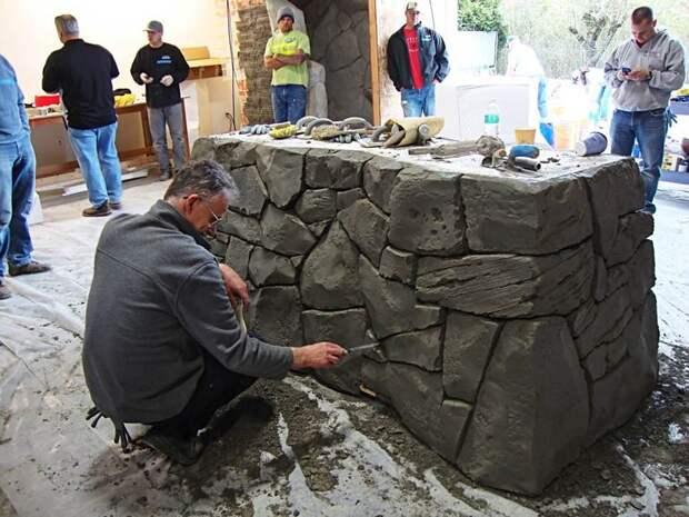 Делаем искусственный камень своими руками
