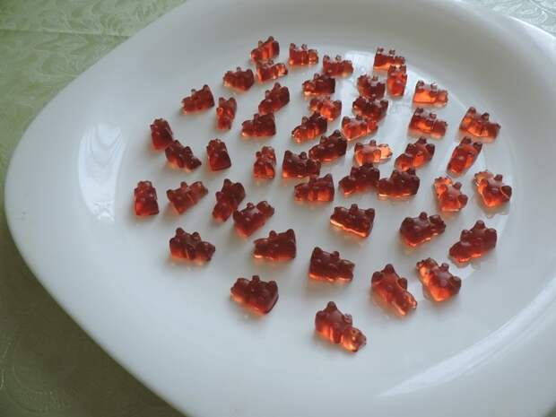 Желейные мишки из сока еда, желе, сделай сам, фоничка