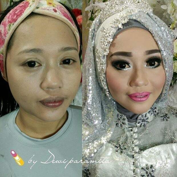 Азиатские невесты до и после агрессивного свадебного макияжа, и это как будто разные люди боевой раскрас, красота, люди, макияж, невеста, фото