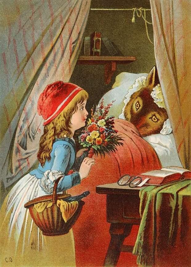 Carl Offterdinger. Красная Шапочка и волк / Little Red Riding Hood