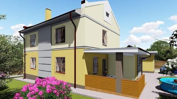 Этот просторный двухэтажный дом является отличным решением для постоянного проживания семьи из 4-6 человек