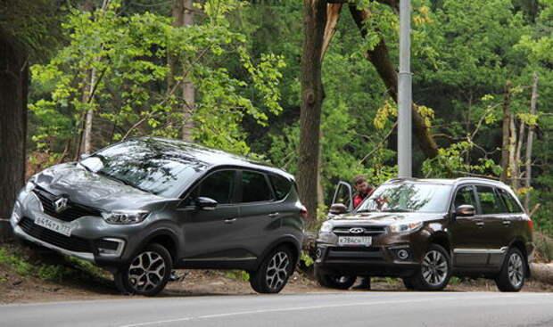 Chery Tiggo 3 или Renault Kaptur? Тест-драйв кроссоверов