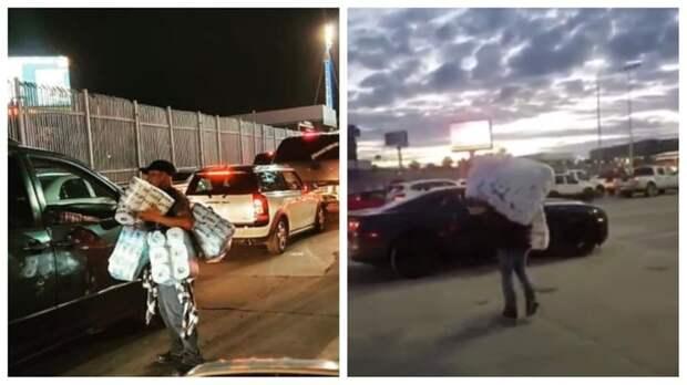 Американцы штурмуют границу с Мексикой и опустошают местные магазины