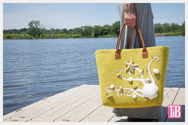 Мастер-класс по декору сумки для пляжа