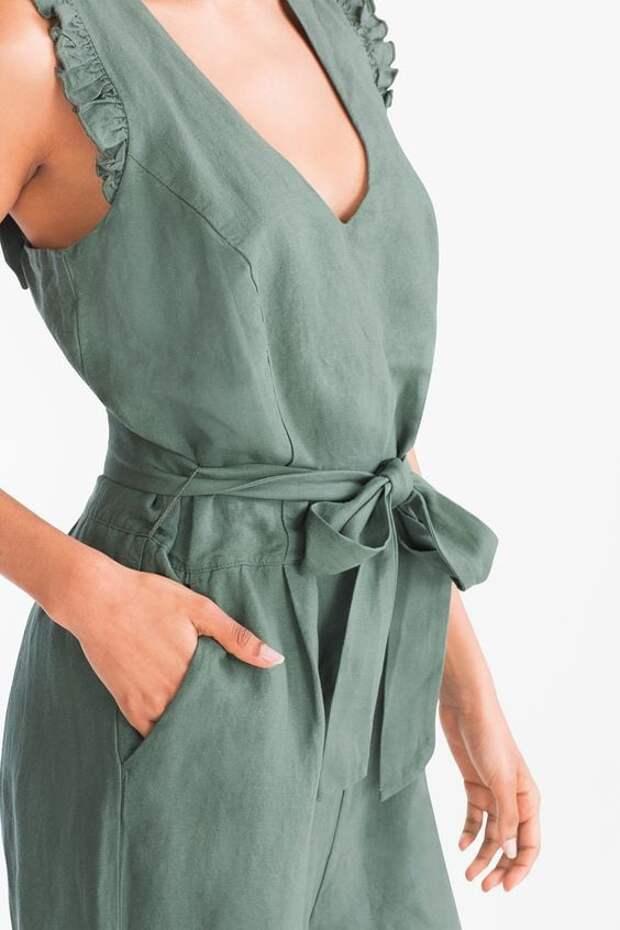 Стильная льняная одежда: модный акцент 2021