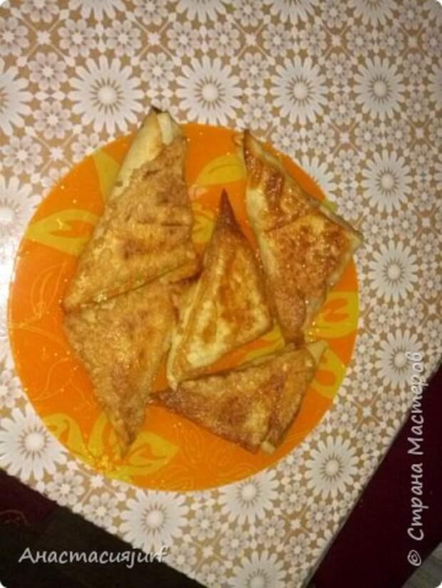 Кулинария Мастер-класс Треугольники из лаваша с ветчиной и сыром фото 9