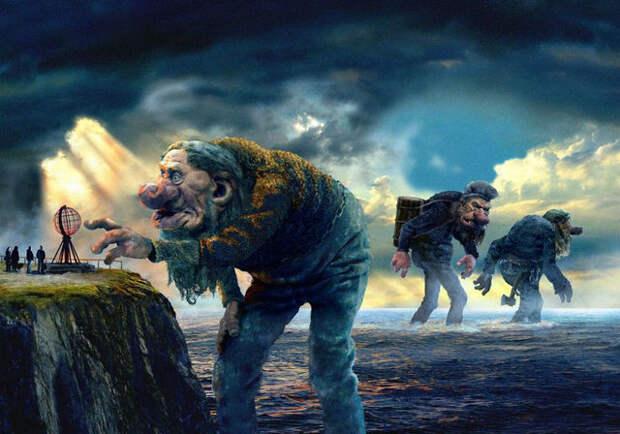 великаны, Загадочные существа, великан, гигант, земля
