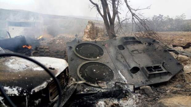 Уничтожение курдами танка Leopard 2A4 турецкой армии