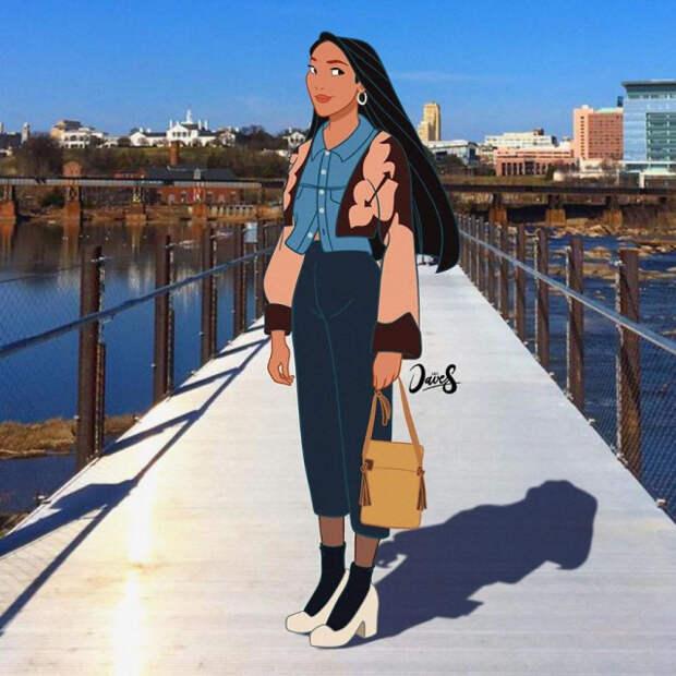 15 персонажей Диснея, которых иллюстратор Дейв Саламанка одел попоследнему слову моды