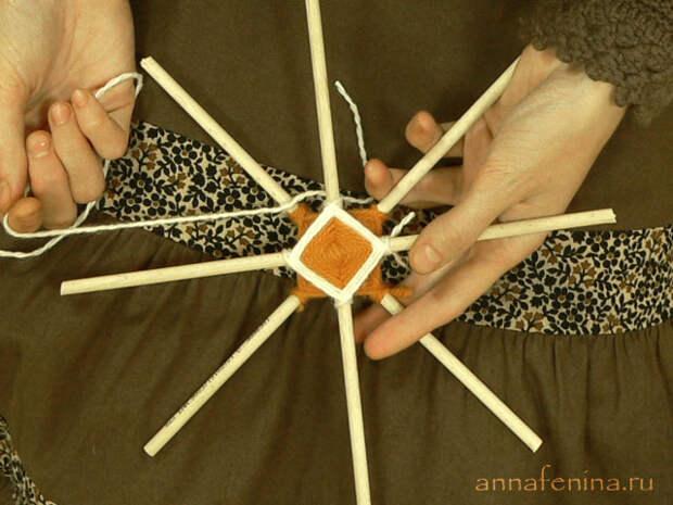 Плетение мандалы: мастер-класс