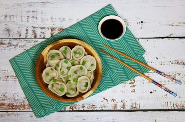 Пельмени с грибной начинкой. \ Фото: 1000.menu.