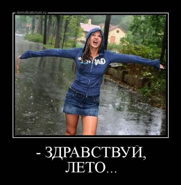 Демотиватор - ЗДРАВСТВУЙ, ЛЕТО...