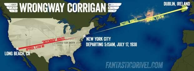 Как Дуглас Корриган осуществил свою мечту и получил прозвище «Неправильный путь»