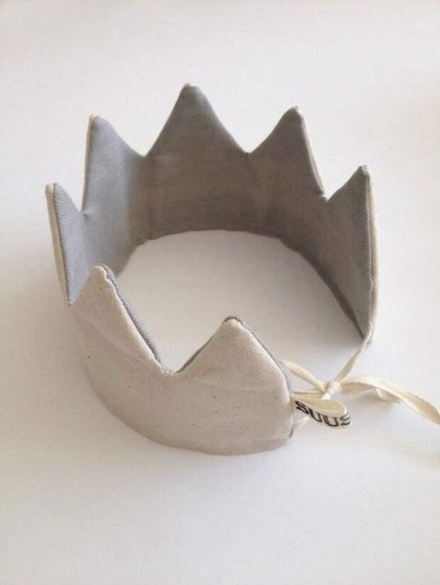 как сделать корону из ткани