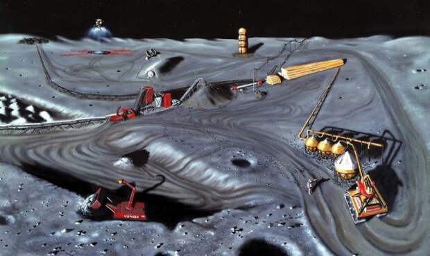 Луна добыча