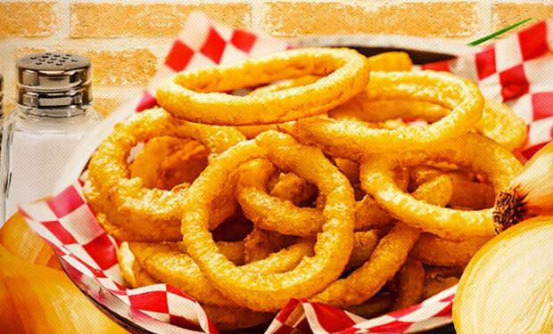 Луковые кольца за 3 минуты: съедаются по 50 штук