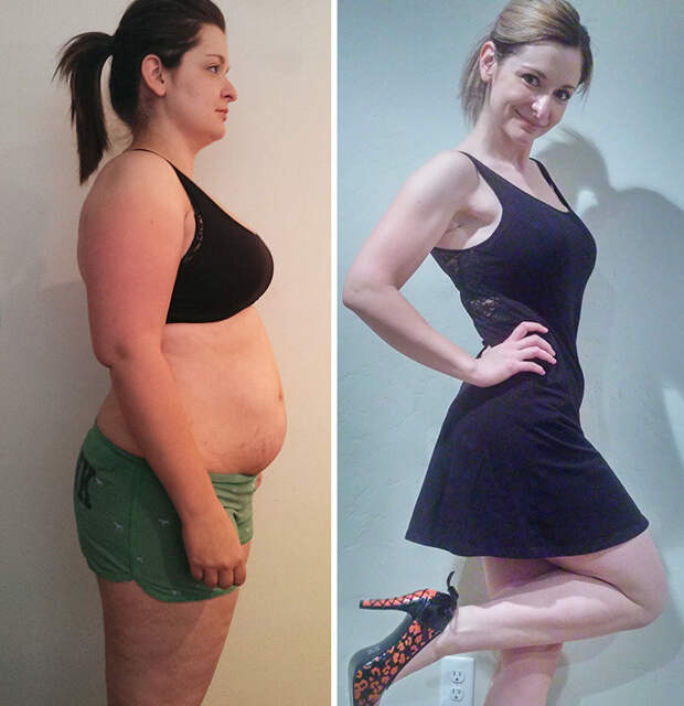 47. Из 100 кг в 66 кг за 2,5 года похудение, результат