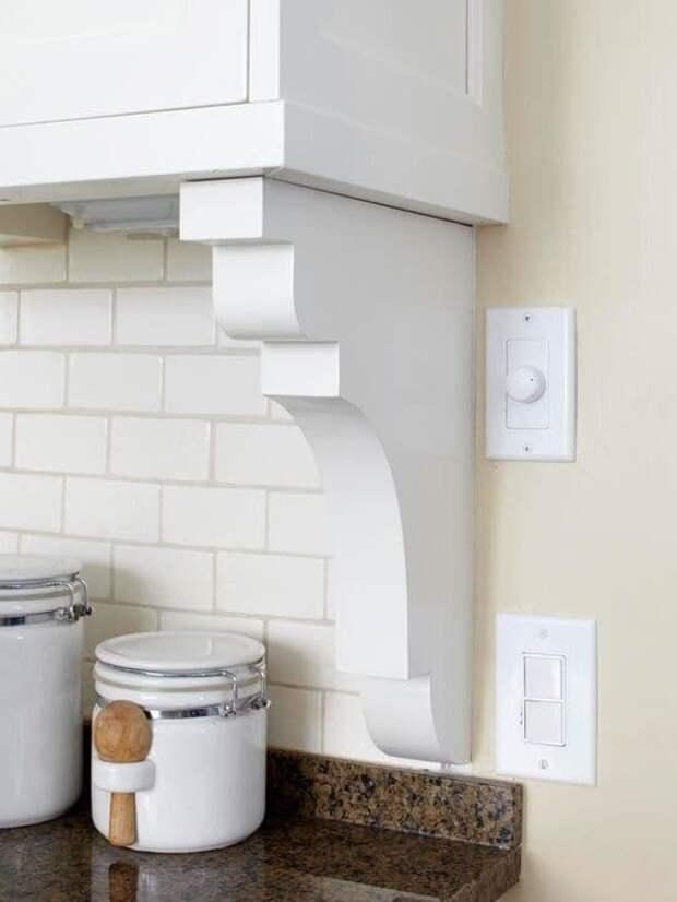 Устанавливаем между стеной и кухонным фартуком симпатичный ограничитель в виде кронштейна бюджетно, дом, идеи, креатив, ремонт, своими руками, советы, фото