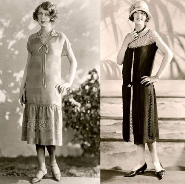Популярные женские силуэты 1920-х годов. | Фото: izuminki.com.