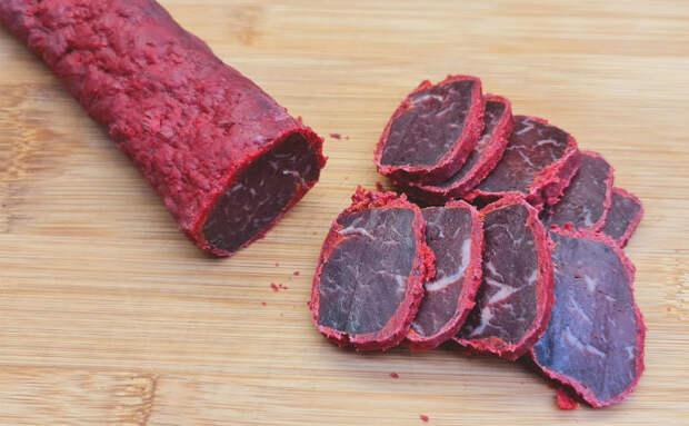 Вялим говядину в соли: деликатес вкуснее колбасы готовится сам по себе