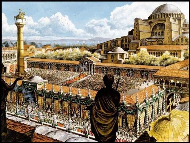 Константинополь времен расцвета Византийской империи