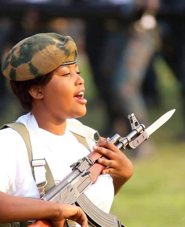 Военный парад в Замбии