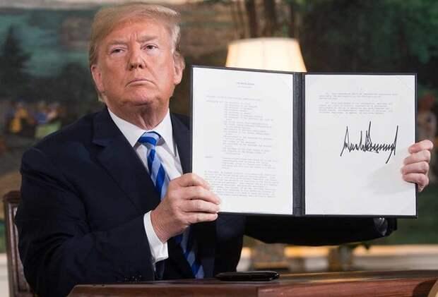 Трамп подписывает указ о выходе США из ядерной сделки по Ирану