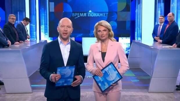 Ведущим «Время покажет» пришлось выкручиваться после мата от украинцев