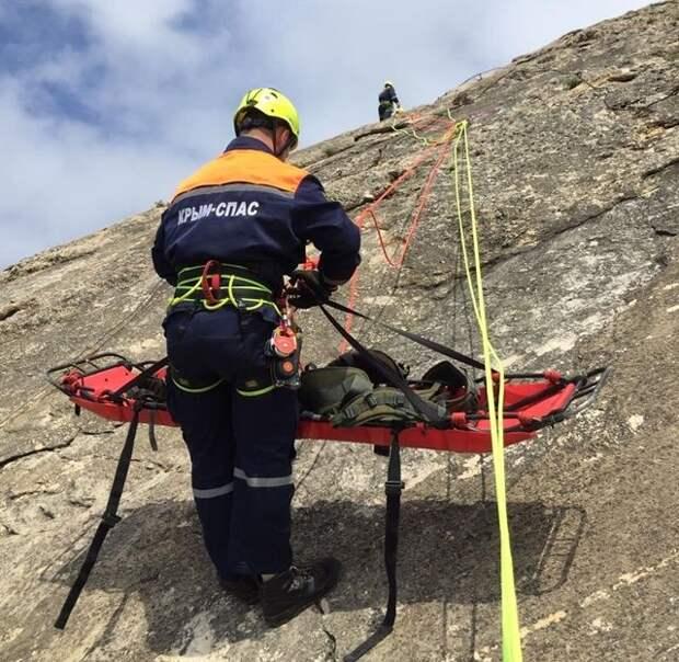 Специалисты ГКУ РК «КРЫМ-СПАС» провели тренировочное занятие по горной подготовке