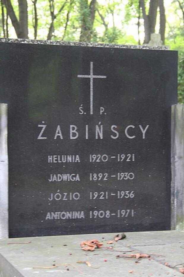 Семейная могила Жабинских.