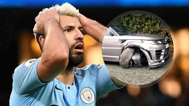 Агуэро попал ваварию. Range Rover звезды «Манчестер Сити» получил серьезные повреждения
