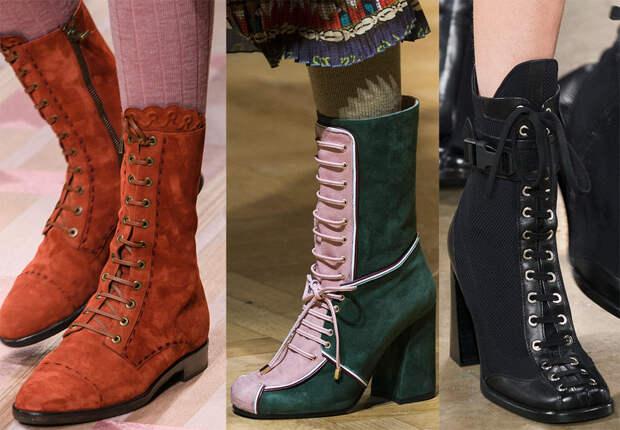 Модная женская обувь на шнурках – лучшие модели