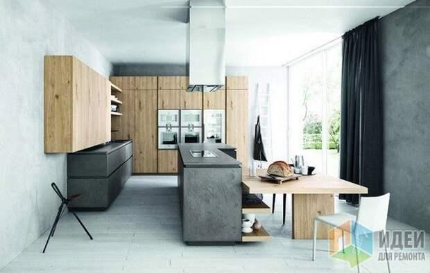Гармоничное сочетание: бетон и неокрашенное дерево, Cesar Arredamenti