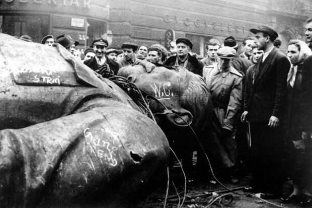 Снос памятника Сталину