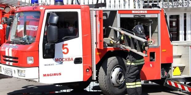 Пожарные ликвидировали возгорание во дворе дома на Заповедной