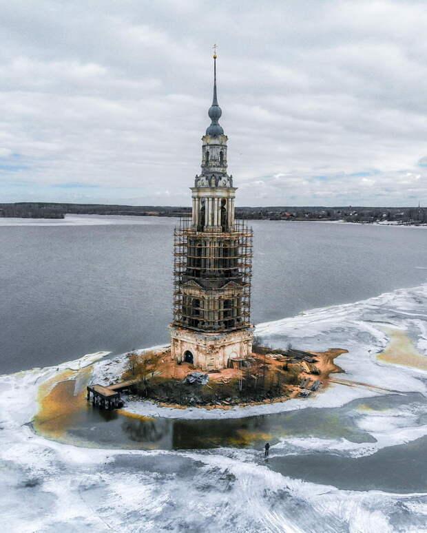 Началась реставрация Калязинской колокольни