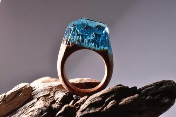 кольцо из дерева, украшения