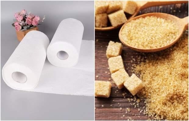 Размягчите тростниковый сахар с помощью влажного полотенца