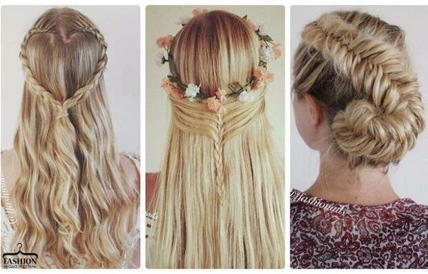 Косички на очень длинные волосы (подборка)