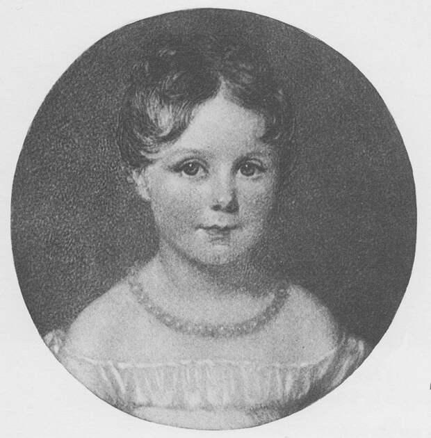 Портрет маленькой Ады Байрон.