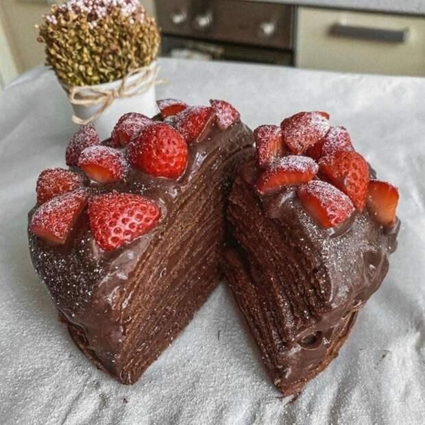 ШОКОЛАДНЫЙ тортик БЕЗ САХАРА и духовки