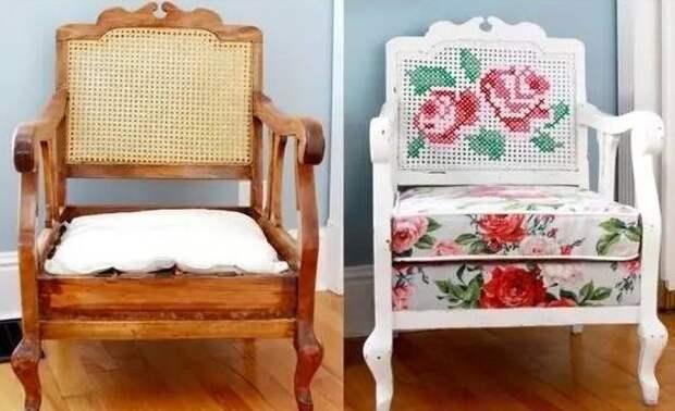 Вышитые кресла (подборка)