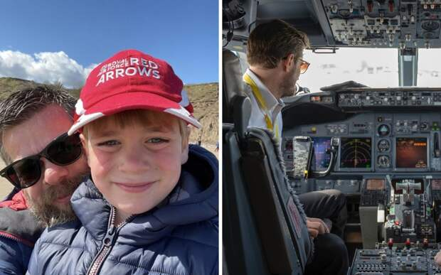 Отец победил страх перед полетами, чтобы исполнить мечту сына стать пилотом