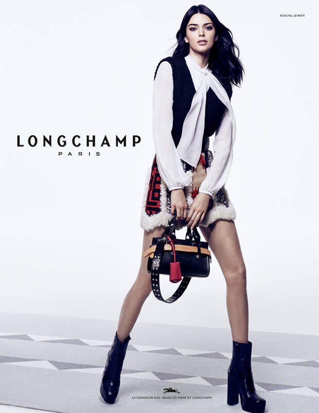 Кендалл Дженнер с главной сумкой сезона в новой рекламной кампании Longchamp