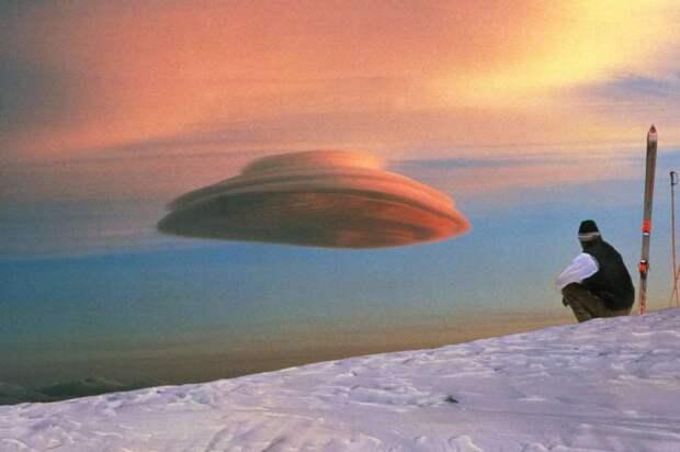 Чечевицеобразное облако, напоминающее неопознанный летающий объект интераесное, факты, фото