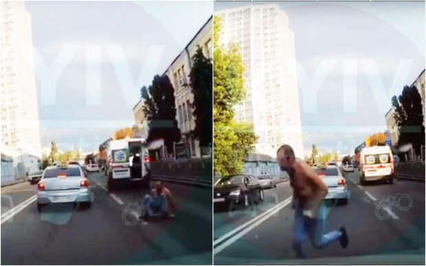 Нетерпеливый пациент: на ходу выпрыгнул из скорой — и деру!