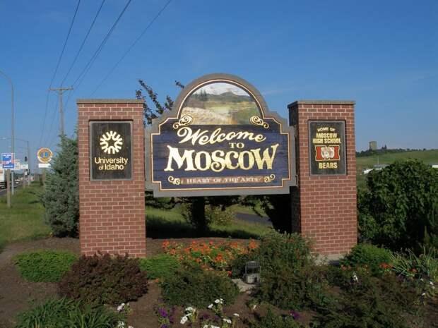 Москва в Айдахо, США география, москва, ссср, факты