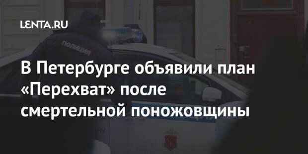 В Петербурге объявили план «Перехват» после смертельной поножовщины